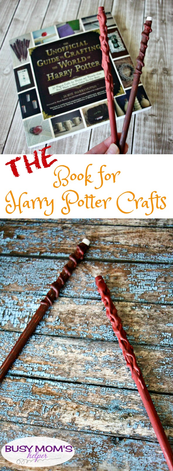 THE Book for Harry Potter Crafts, the perfect gift for any Harry Potter Fan / by BusyMomsHelper.com #ad