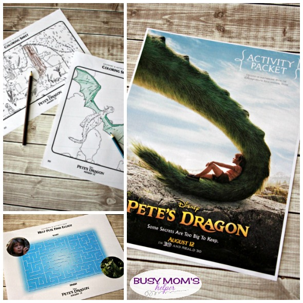 Pete's Dragon Activity Pages Free Printables