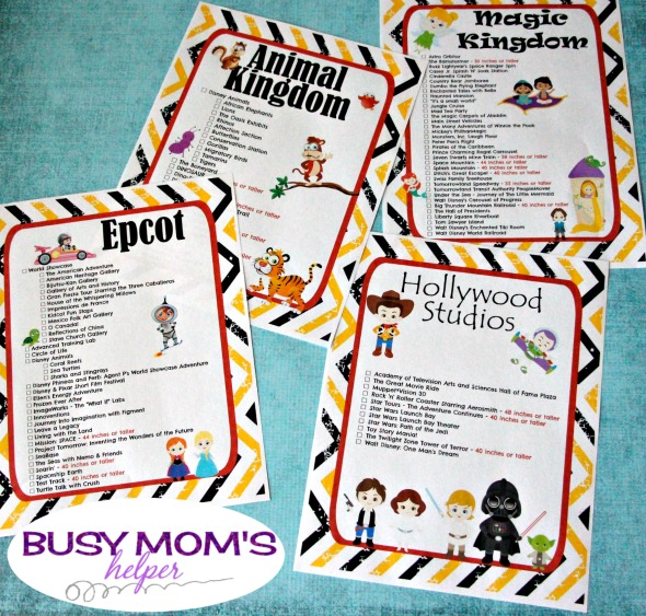 photo relating to Printable Animal Kingdom Map identified as Cost-free Printable Walt Disney Global Experience Checklists - Hectic Mothers