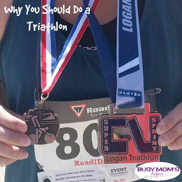 Why You Should Do a Triathlon by Nikki Christiansen for Busy Mom's Helper