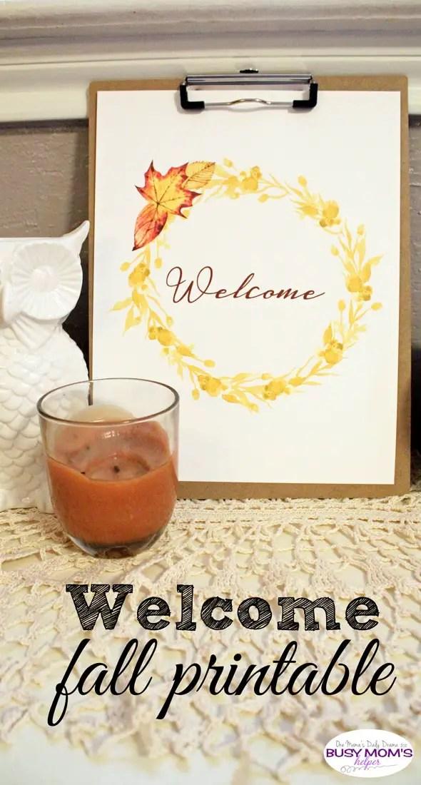 Welcome fall printable wreath