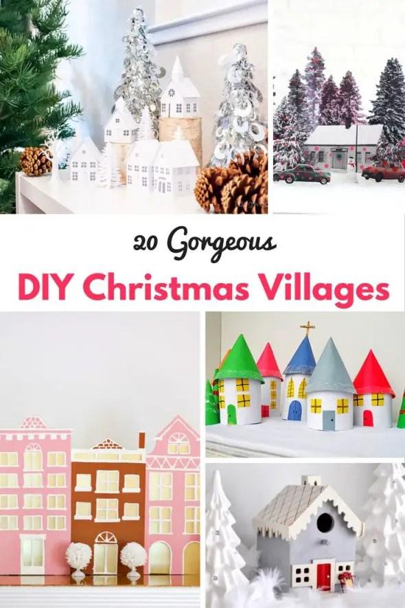 20 DIY Christmas Villages