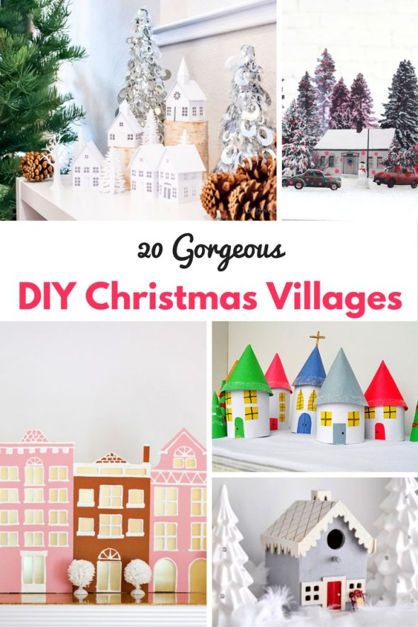 20 DIY Christmas Villages Busy Moms Helper