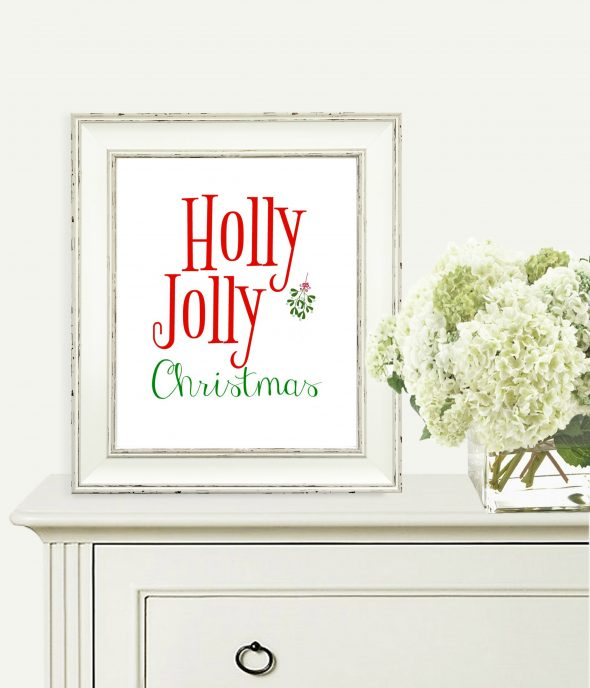 Holly Jolly Christmas Printable