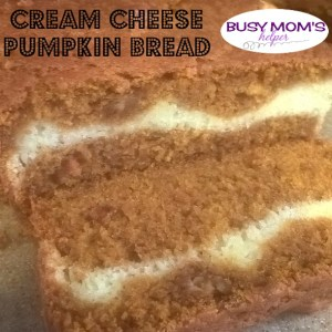 Cream Cheese Pumpkin Bread by Nikki Christiansen for Busy Mom's Helper
