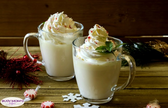 Peppermint White Chocolate Hot Cocoa / This delicious & creamy Peppermint Hot Cocoa is easy to make