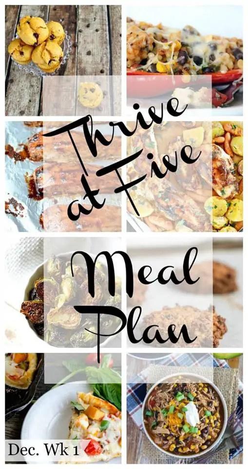Thrive at Five Meal Plan Week 3