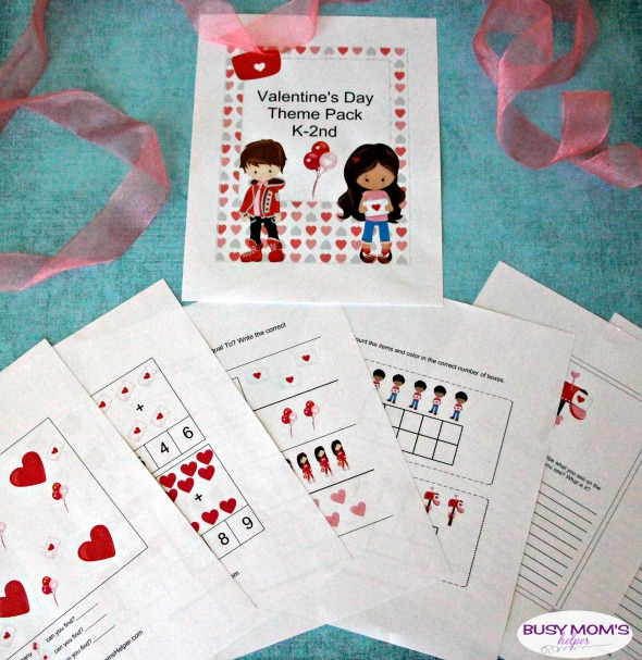 Valentine's Day K-2nd Activity Pack / Playful Learning Activities with a fun Valentine's Day Theme / Free Printable