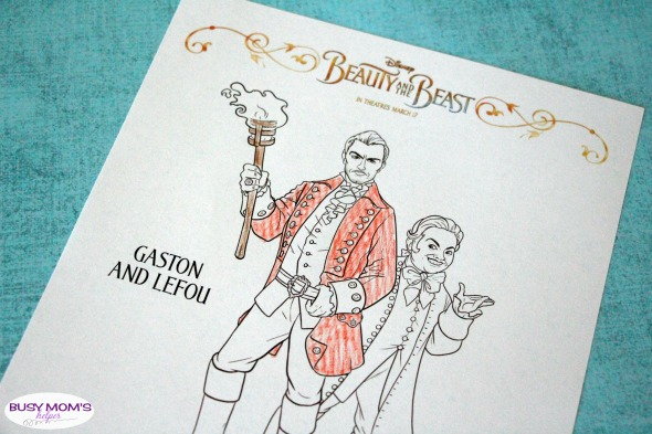Beauty The Beast Coloring Pages Busy Moms Helper