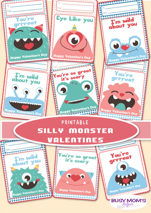 Silly Monster Valentines