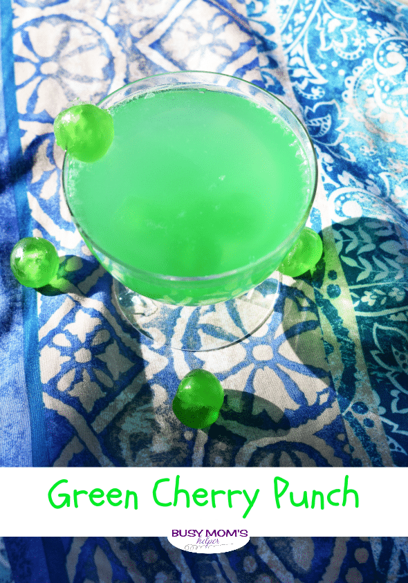 Green Cherry Punch - Busy Mom's Helper