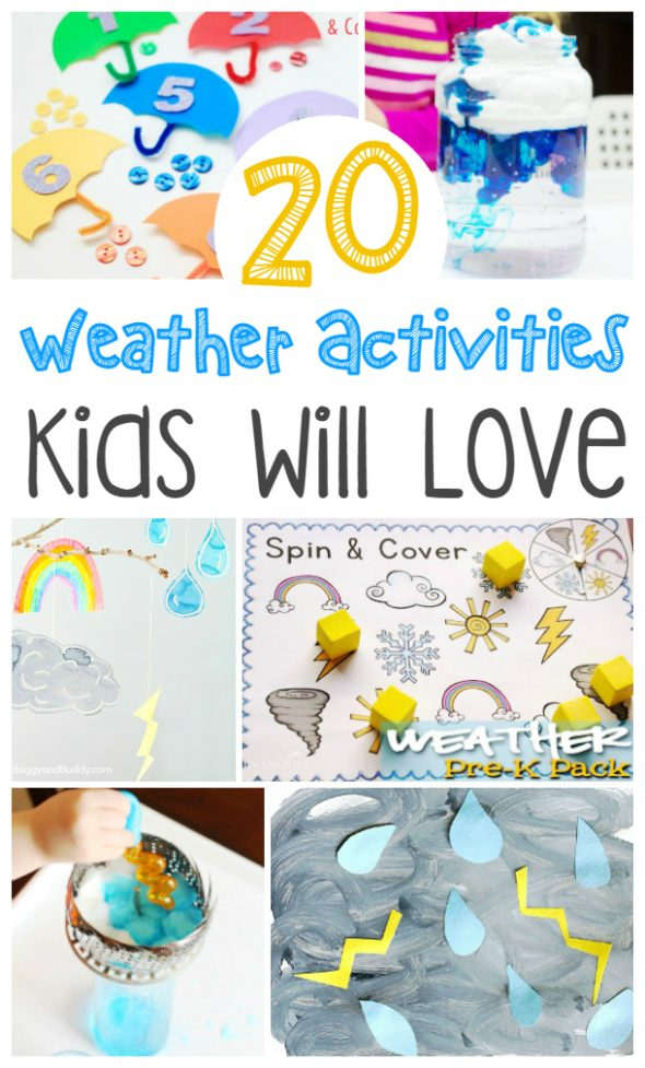 20 weather activities kids will love / a great resource for preschool weather unit