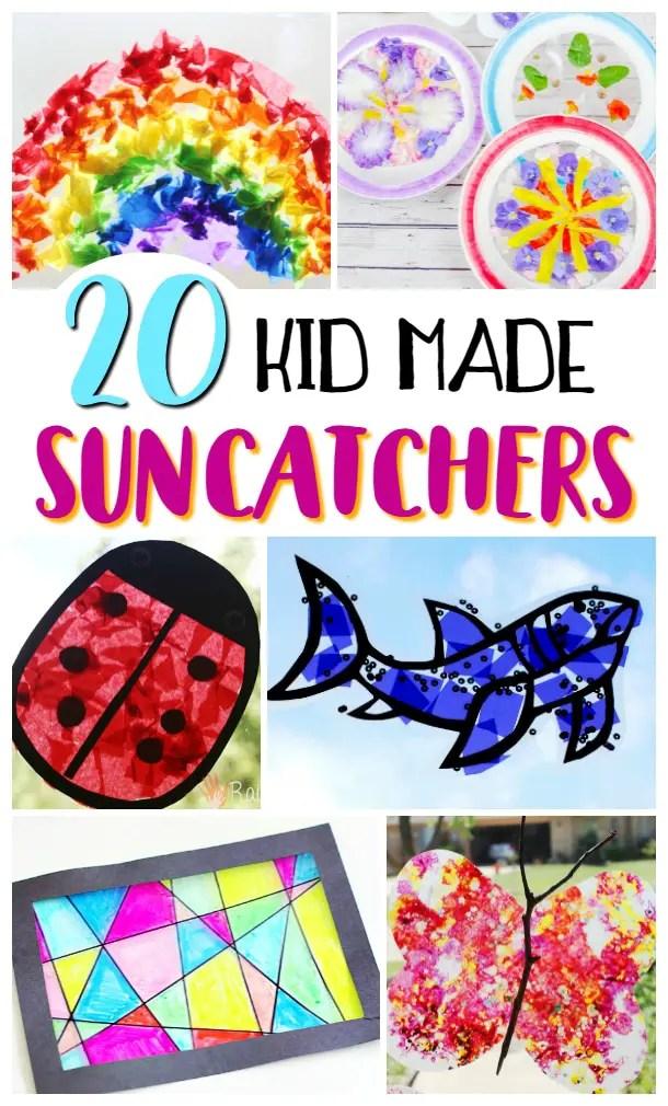 20 Kid Made Suncatchers / A list of great kid activities for the summer break!