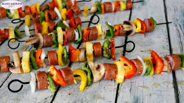 Marinated Sausage Kabobs #ad #WhatsCookingWednesday @klementssausage
