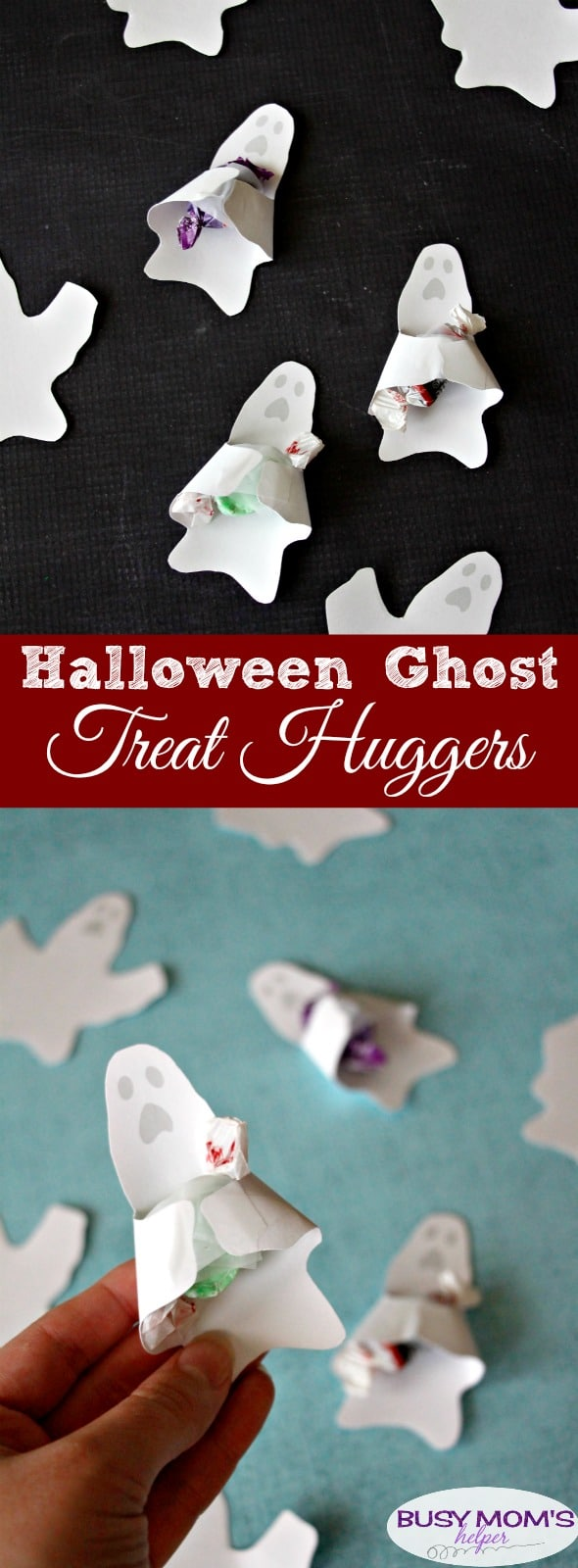 Halloween Ghost Treat Huggers free printable