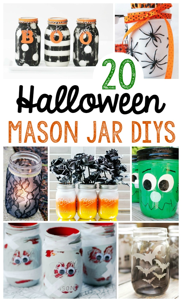 20 DIY Halloween Mason Jar Crafts