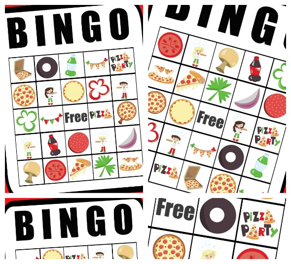 Free Printable Pizza Party Bingo Cards