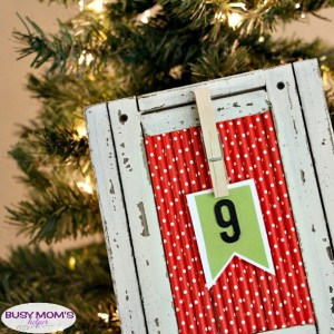 DIY Christmas Countdown - a great holiday craft that's fun, simple & quick to make!