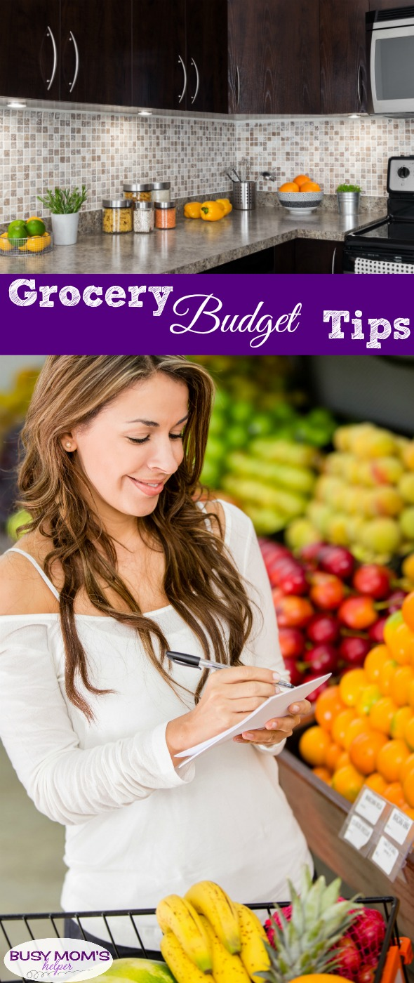 Grocery Budget Tips #busymom #busymoms #grocerybudget #money #budget #savemoney #mealplanning