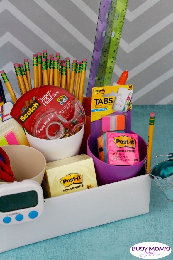 Homework Station for Teens & Tweens with DIY Pencil Caddy Tutorial #ad #BackToSchoolGoals18 #homework #teens #school