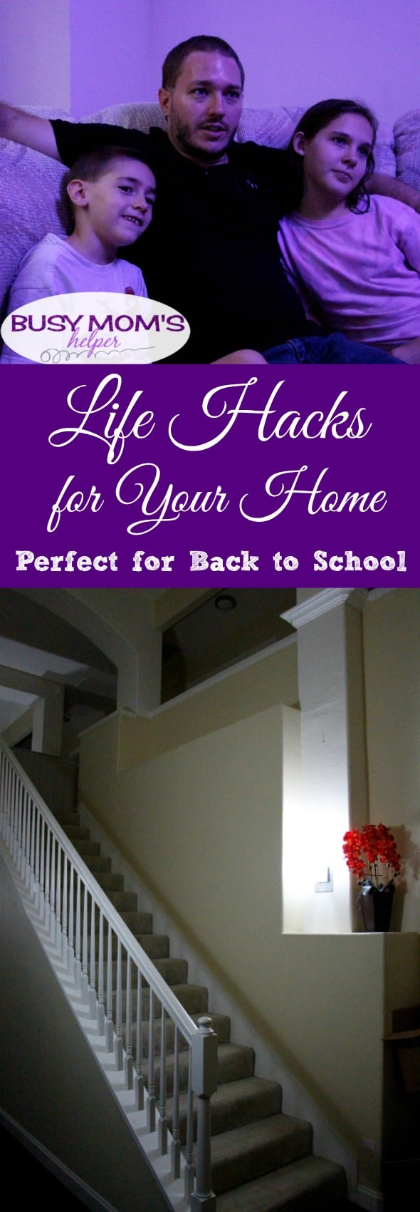 Life Hacks for Your Home / Ways to help your schedule with back to school & year round! #AD #PhilipsHue #myhue @philipslights