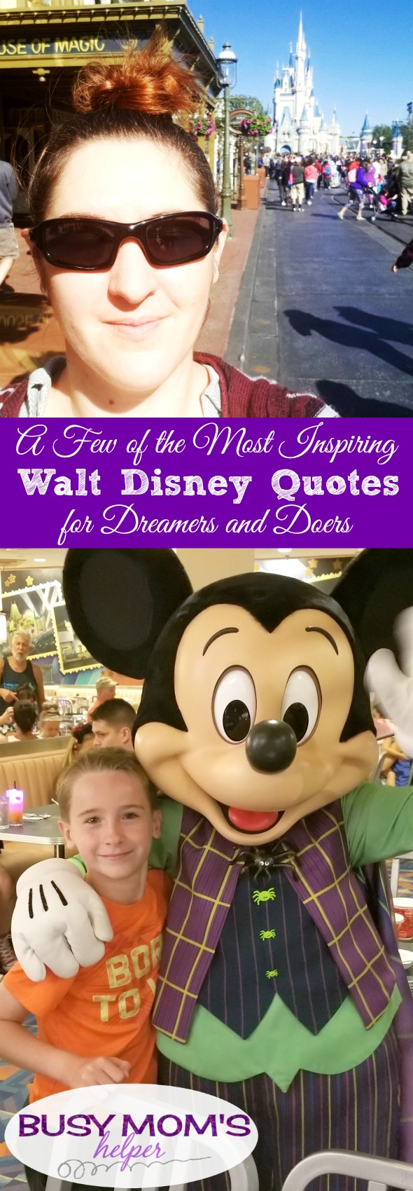 Five of the Most Inspiring Walt Disney Quotes for Dreamers and Doers #waltdisney #waltdisneyworld #wdw #disney #disneyland #disneyquotes
