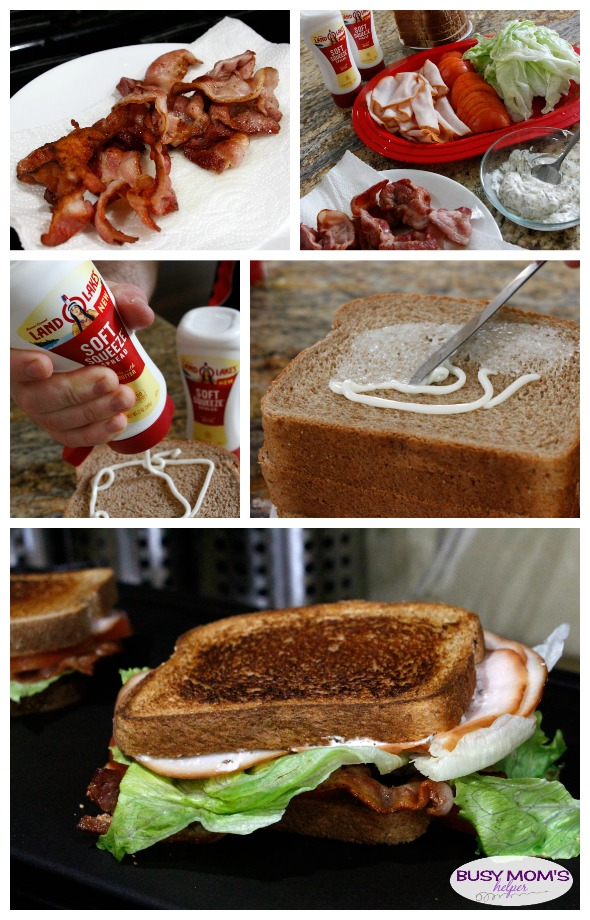 Perfect Grilled BLT with tasty basil mayo sauce! #AD #EasySqueezy
