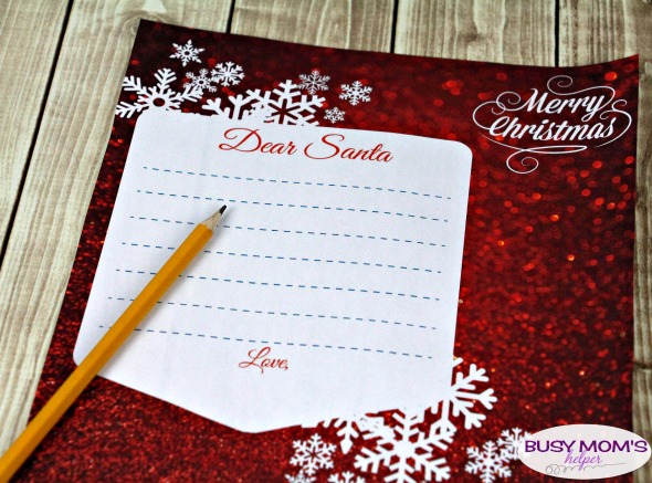 Santa Letter Wish List Printables Busy Moms Helper
