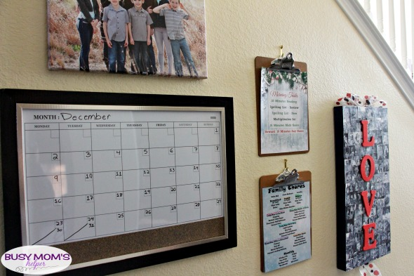 Our New Family Home Command Center is super helpful keeping us organized, plus looks amazing in our house! #homecommandcenter #commandcenter #familycommandcenter #homeorganization #homemanagement