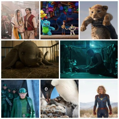 Walt Disney Movies Coming in 2019 #captainmarvel #avengersendgame #artemisfowl #dumbo #aladdin #toystory4 #thelionking #disneynaturepenguins #starwars #frozen2