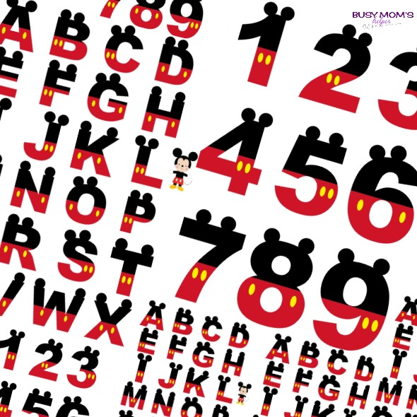 photo relating to Printable Letters and Numbers identified as Printable Mickey Figures Letters - Fast paced Mothers Helper