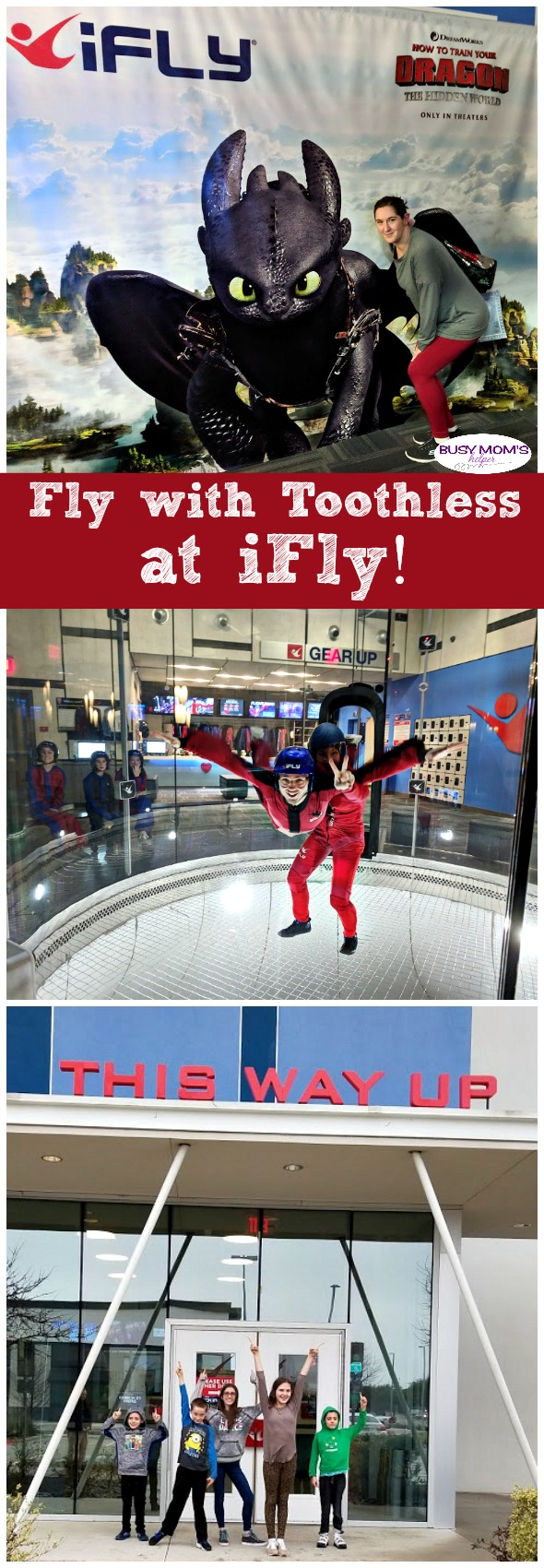 Fly with Toothless at iFly #ad #ifly #indoorskydiving #howtotrainyourdragon You get to race with your favorite dragon while an iFly instructor guides you on your VR adventure - truly an unforgettable experience for the whole family!