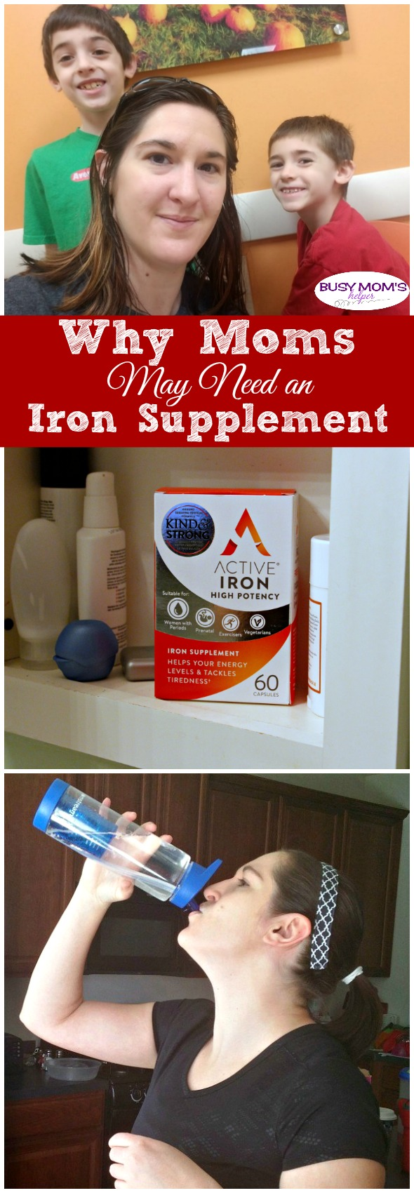 Why Moms May Need an Iron Supplement / Ways to get more energy as a mom #AD #Health #MomHealth #GetHealthy #WomensHealth #ActiveIron