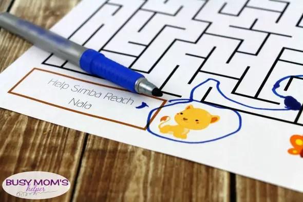 Free Lion King Printable Maze activity for kids #thelionking #printable #freeprintable #kidactivity #lionking #disney