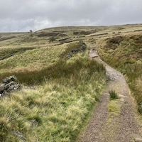 Heading towards Top Withens which is thought to be the inspiration for Wuthering Heights