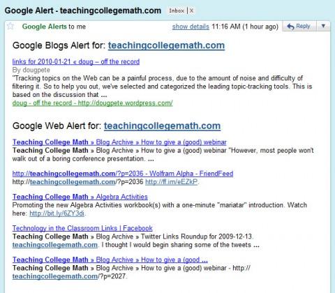 google-alert-email