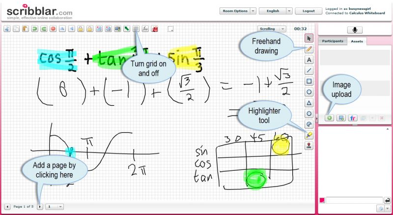 Analysis of Online Whiteboard Tools