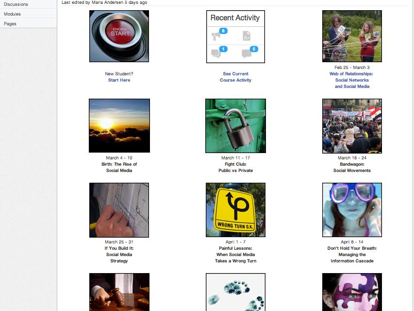 Canvas Network Social Media Course