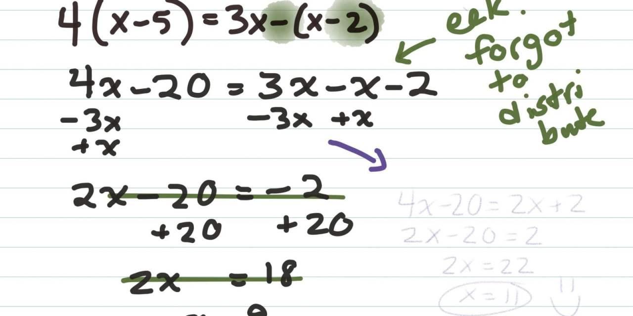 Celebrate the Errors in Math Practice