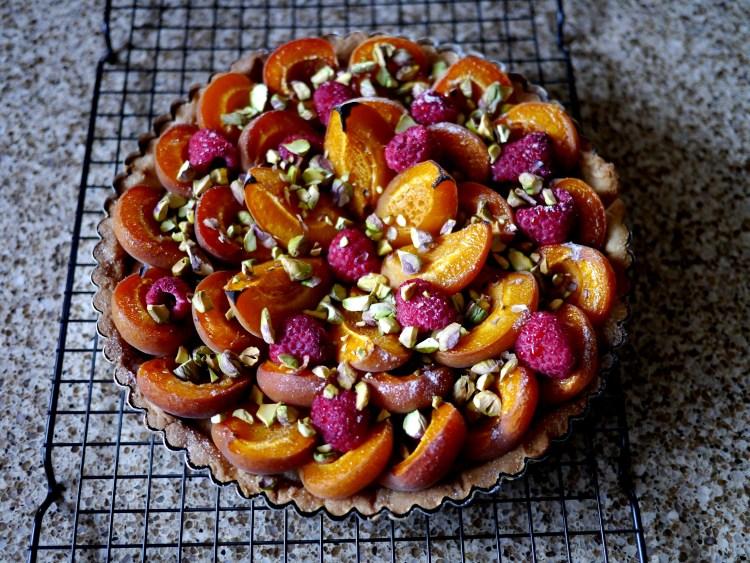 Apricot Raspberry Tart