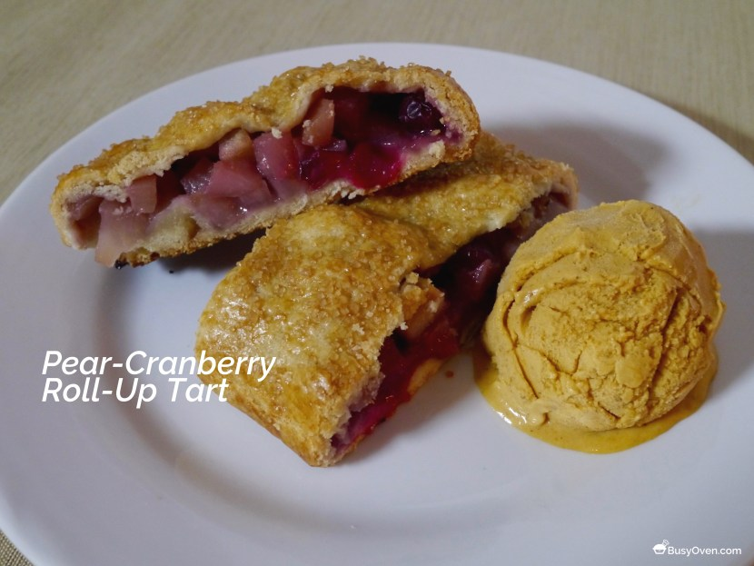 Pear-Cranberry Roll-Up Tart