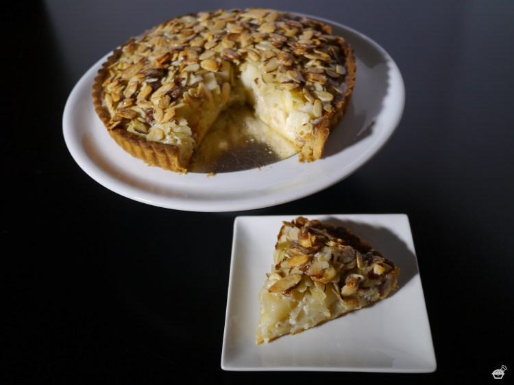 Pear Tart with Crunchy Almond Topping
