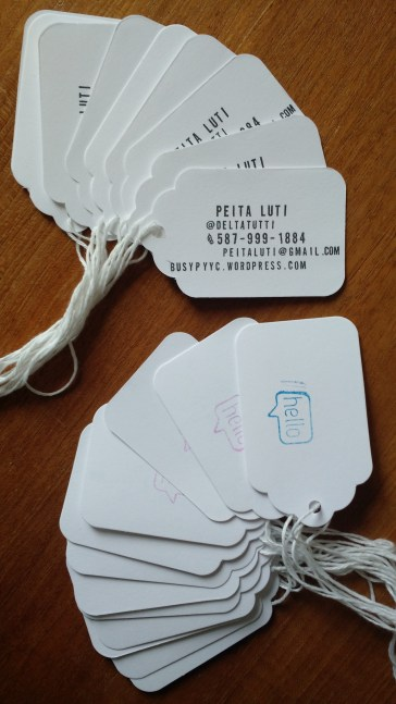 Custom handmade business cards