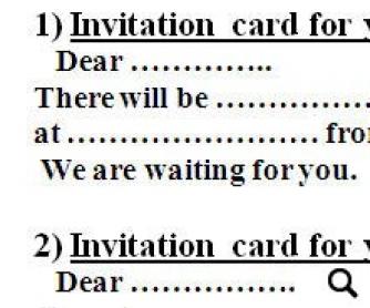 write an invitation card