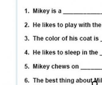Adjectives Worksheet For Kids