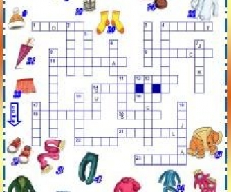 Clothes Picture Crossword