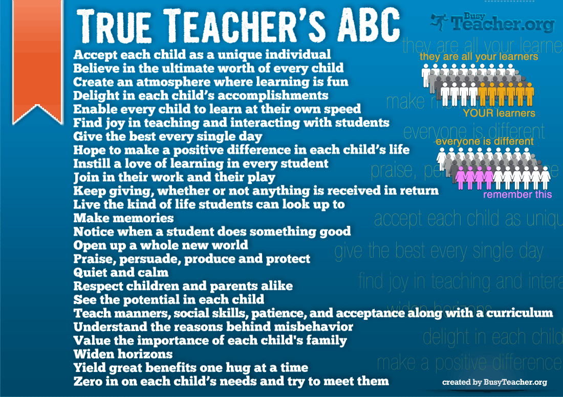 True Teacher S Abc Poster