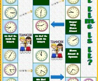 Telling The Time Boardgame