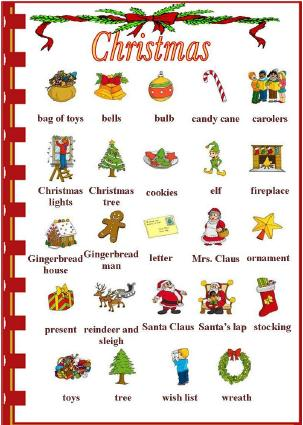 Christmas Picture Dictionary