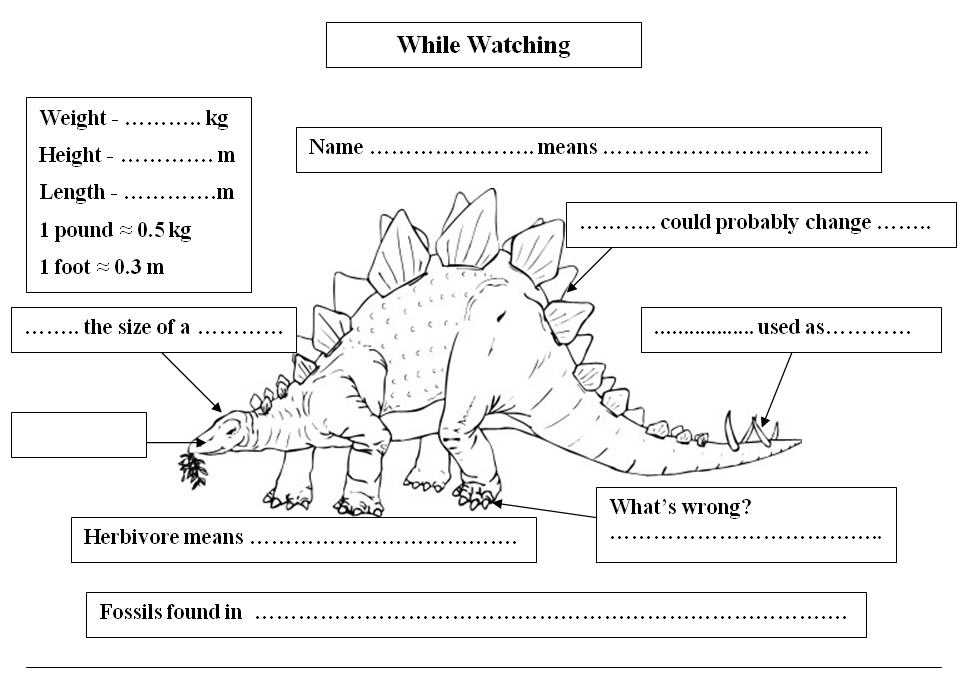 Stegosaurus While Watching Activity